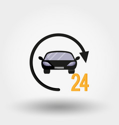 Car service delivery 24 hours a day vector