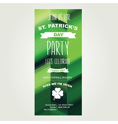 Invitation saint patricks dayholiday poster party vector
