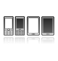 Mobile phones and tablet computers communication vector
