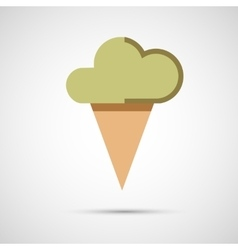 Icon ice cream isolated on white background vector