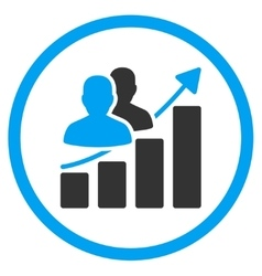 Audience Growth Icon vector image