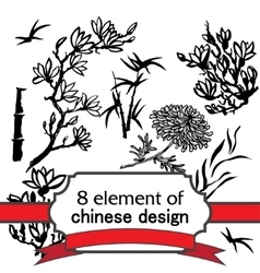 8 element for design in chinese style vector image