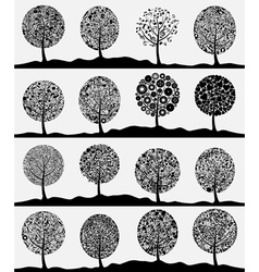 Collection of trees3 vector image