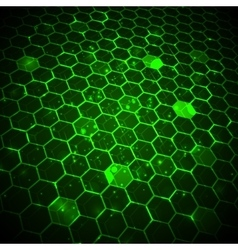 Abstract technology background hexagonal template vector image