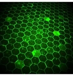 Abstract technology background hexagonal template vector