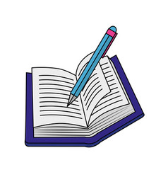 book and pen design vector image