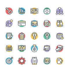 Business Cool Icons 4 vector image