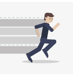 businessman running icon vector image