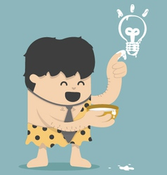 Caveman Business Have Idea vector image vector image