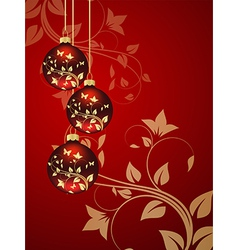 christmas red 1 vector image