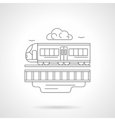 City train detailed line vector image
