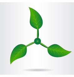 Conceptual eco icon vector image