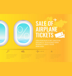 conceptual poster sales and discounts of airplane vector image vector image