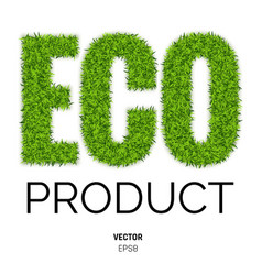 eco made of green grass vector image vector image