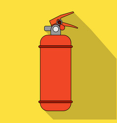 Fire extinguisher powdercar single icon in flat vector