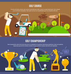golf competition horizontal banners vector image vector image