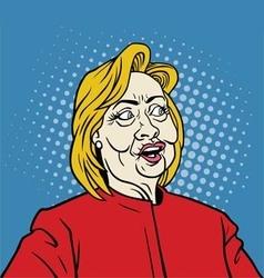 Hillary Clinton Pop Art Portrait vector image vector image