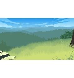 hills landscape vector image vector image