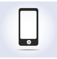 Icon phone on gray background vector image
