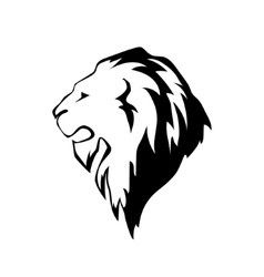 lion head in profile Template Logo vector image