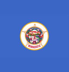 minnesota state flag vector image vector image