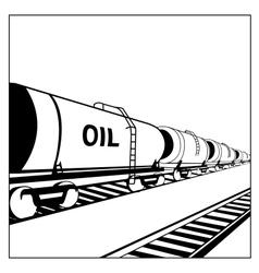 oil tank wagon vector image vector image