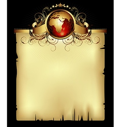 paper background with world vector image vector image