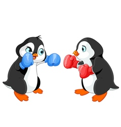 Penguin Boxing vector image vector image