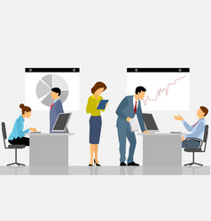 people working in the office vector image vector image