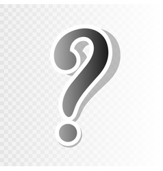 Question mark sign new year blackish icon vector