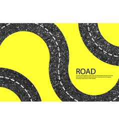 road blank badges and labels on background yellow vector image