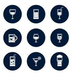 round glasses icons vector image