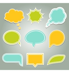 Set of colorful speech bubbles eps 10 vector image vector image