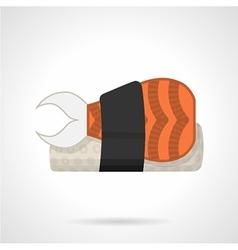 Sushi bento flat icon vector image vector image