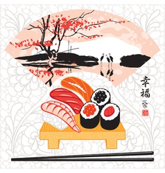 sushi herons vector image vector image