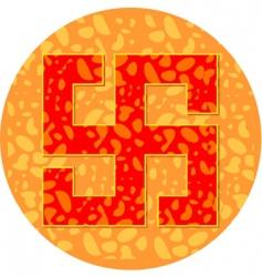 swastika vector image vector image