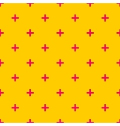 Tile cross plus pastel pink and yellow pattern vector