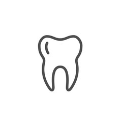 tooth line icon vector image vector image