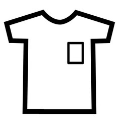 tshirt icon on white background t-shirt sign vector image vector image