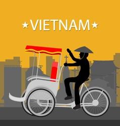 Vietnam tricycle vector