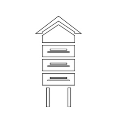 Wooden beehive icon outline style vector