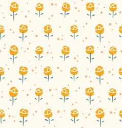 Little roses pattern vector
