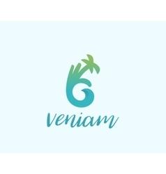 Hand palm ok logo symbol icon ocean wave vector