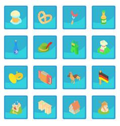 Germany icon blue app vector