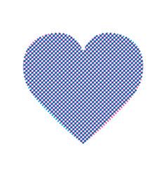 Heart modern with editable line vector