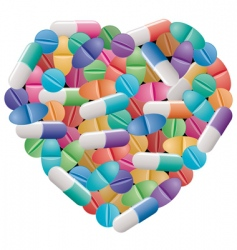 Pills and capsules vector