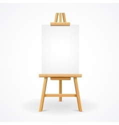 Wooden easel empty vector
