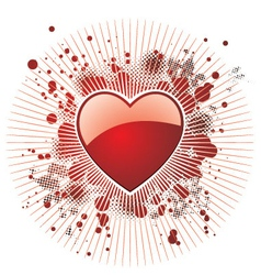 Glossy red heart vector