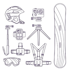 Snowboard extreme winter sports vector