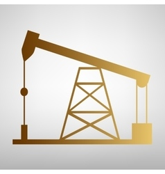 Oil drilling rig sign vector